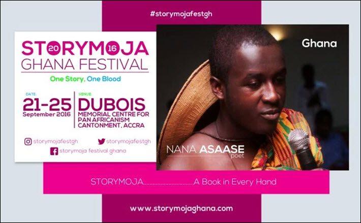 Poet Nana Asaase is a headliner at Storymoja Ghana Festival. Image: Storymojaghana.com