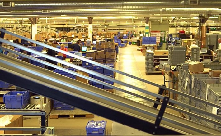 Gardners' fulfillment center sorting machinery can process more than 100,000 items daily. Image: Gardners video