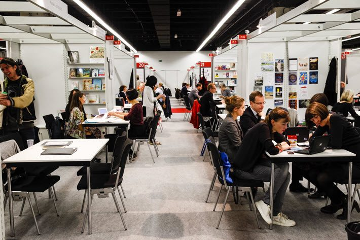 "In the Literary Agents & Scouts Centre, the ""LitAg,"" at Frankfurt Book Fair. Image: Frankfurter Buchmesse, Marc Jacquemin"