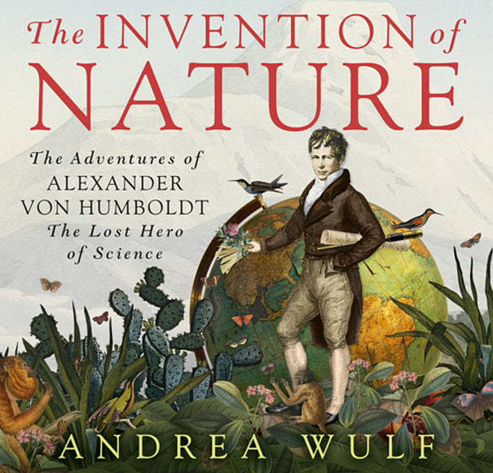 The audiobook treatment of the UK cover of Andrea Wulf's 'The Invention of Nuture,' first published by John Murray