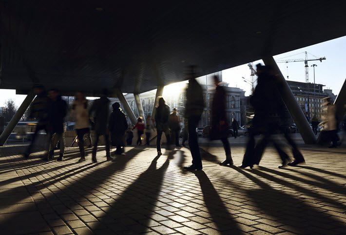 Metro passengers in Moscow. Image - iStockphoto: DanR 13