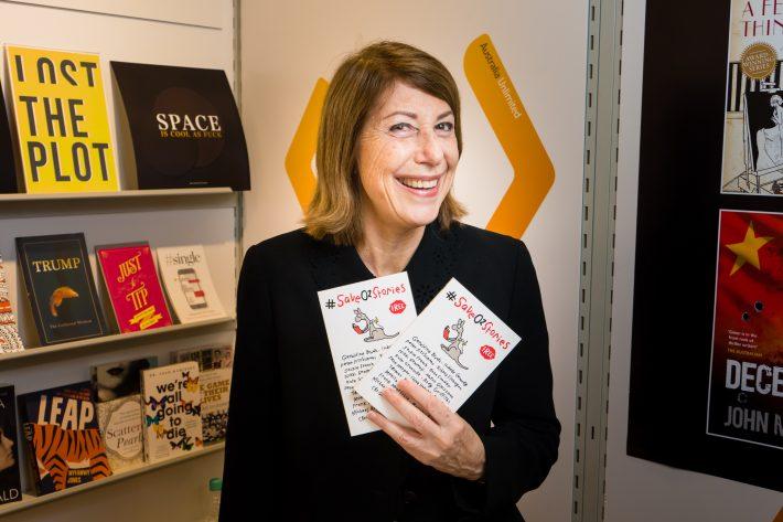 Louise Adler, president of the Australian Publishers Association, at the Frankfurt Book Fair