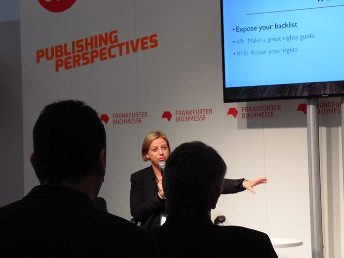 Jane Tappuni on the Publishing Perspectives Stage. Image: Porter Anderson