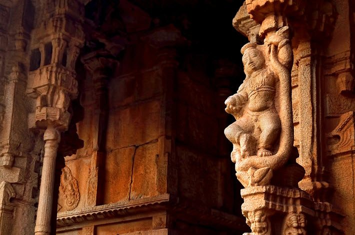 A detail from the Vittala Temple at Hampi, India. Image - iStockphoto: Aapthamithra
