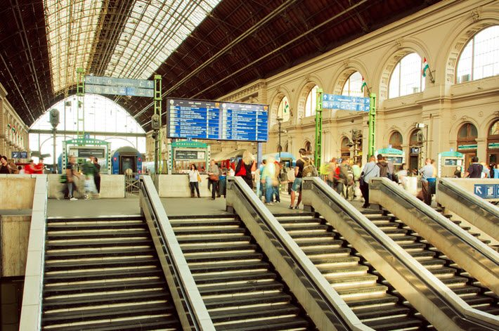 At Budapest's Kaleti railway station. Image - iStockphoto: RadioKukka