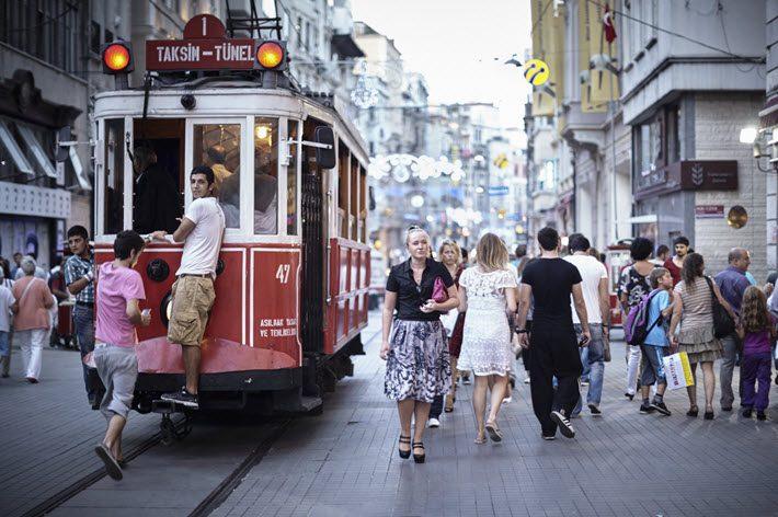 On Istanbul's Istiklal Street. Image - iStockphoto: MillionsJoker