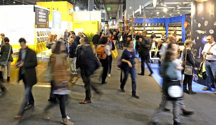 At Frankfurt Book Fair in October. Image: Frankfurter Buchmesse, Alex Heimann
