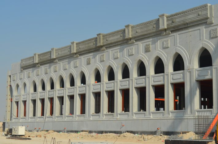 The Sharjah Book City site under construction. Image: Roger Tagholm