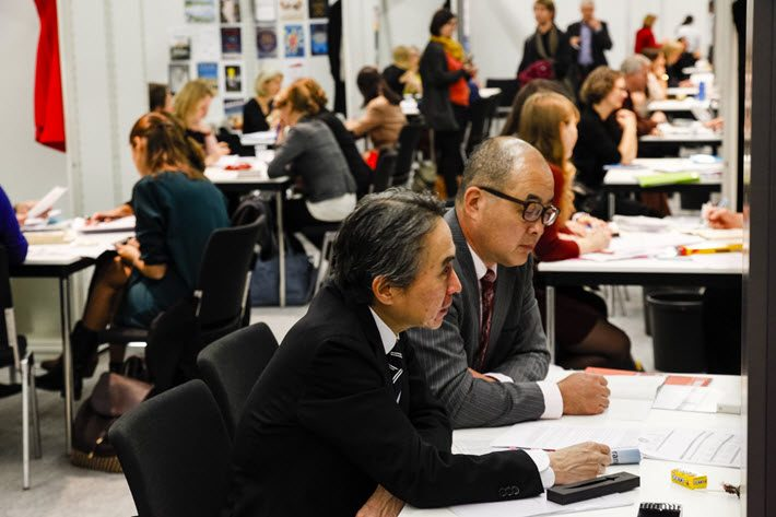 Rights buying and selling in the 2016 Literary Agents & Scounts Centre (LitAg) at Frankfurt Book Fair. Image: Frankfurter Buchmesse, Marc Jacquemin