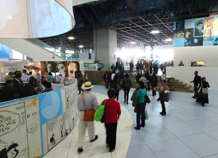 In the pavilion at last year's (2015) Guadalajara International Book Fair. Image: fil.com.mx