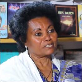 Author Tsehay Melaku, interviewed by Yeberana Lijoch on EBS television.