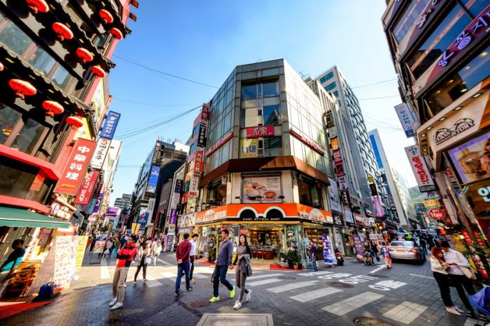 The popular shopping district on Myeong-Dong in Seoul. Image - iStockphoto: 501Room