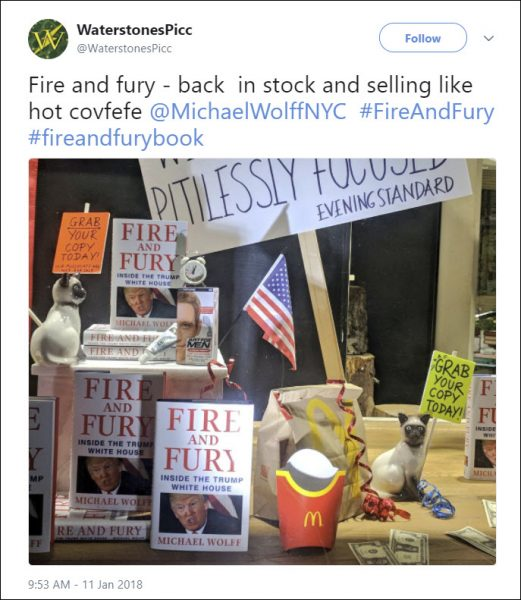 Fire and Fury at Waterstones Piccadilly