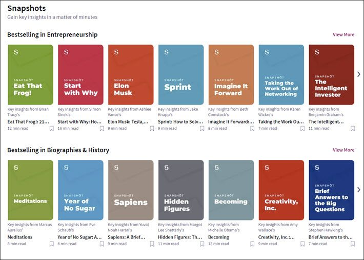 Scribd Rolls Out 'Snapshot' Samplers From Nonfiction Books