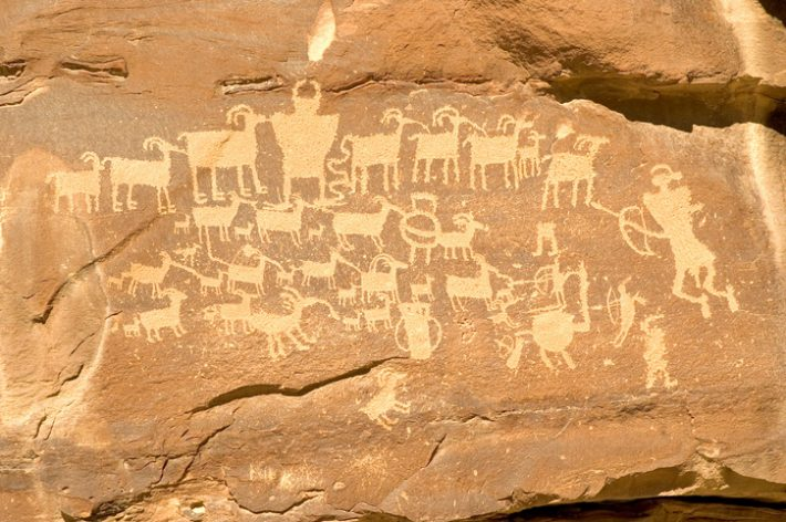 The language of petroglyphs in the Book Cliffs region of Utah, the Fremont Northern San Rafael idiom. Image - iSTockphoto: Legacy Images Photography