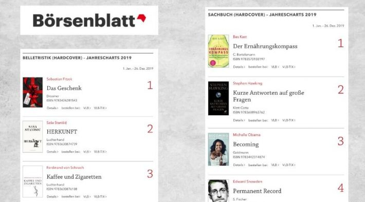 german bestsellers of 2019 from boersenblatt magazine