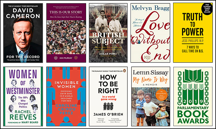 2019 Parliamentary Book Awards shortlist