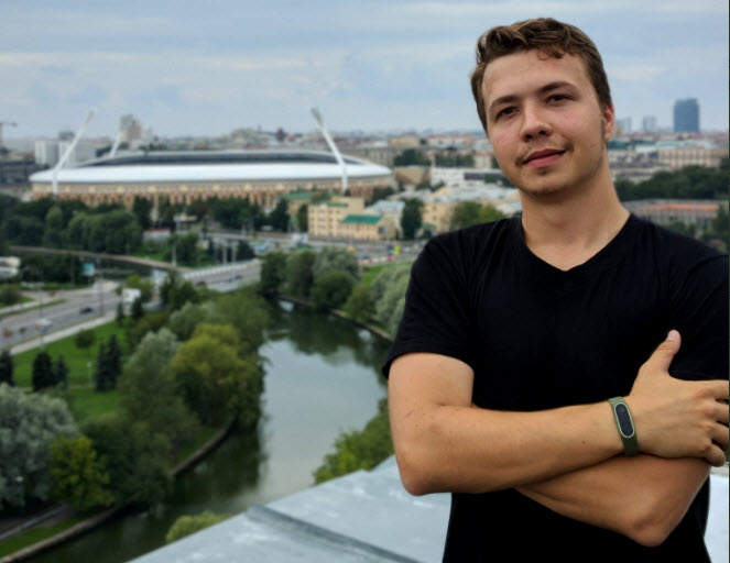 Roman Protasevich in a photograph posted July 22, 2018, by Protasevich to his Twitter account
