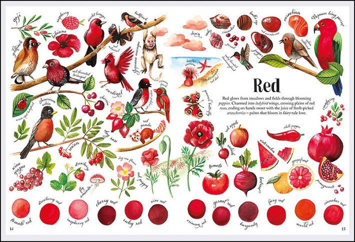 spread from Albatros Media book Colors in Nature