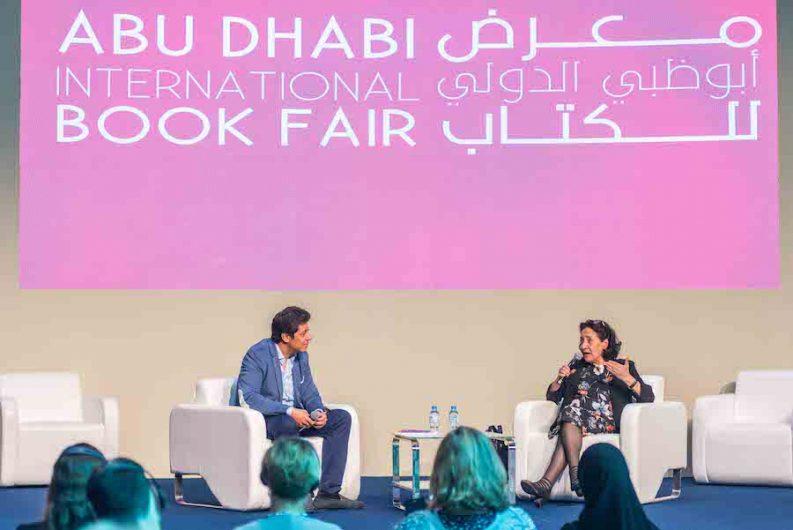 Author Hoda Barakat speaking at ADIBF 2018